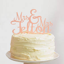 Custom Calligraphy Mr And Mrs Wedding Cake By T