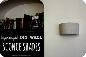 simple diy wall sconce shades