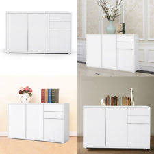 Item 3 Solid Wooden Storage Cabinet Cupboard With Doors Hallway Dining Room White UK