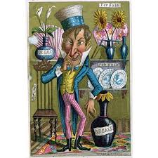 Oscar Wilde Trade Card Noscar WildeS American Tour Of 1882 Inspired This MerchantS Depicting A Stereotype Yankee With The Wildean Manner