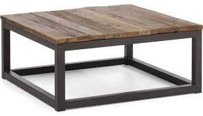Reclaimed Square Rustic Coffee Table Houzz Distressed Tremendous Stainless Steel