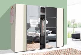 schwebetürenschrank schlafzimmerschrank brüssel 641705 weiß 270cm mit spiegel 14327