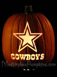 Dallas Cowboys Pumpkin Stencil Free by Masterpiece Pumpkins Pre Carved Pumpkins Custom Carved Pumpkins