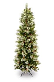 75 Pre Lit Flocked Christmas Tree by Slim Christmas Trees Take Back Your Holiday Room Space In Style