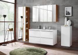 badmöbel set 7 tlg badezimmerset perugia weiß hochglanz set 6