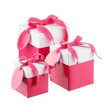 Luxury Square Stripy Flat Packed Gift Box