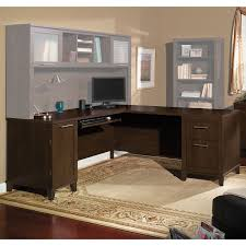 Bush Desk Series C by Somerset 71 In L Shaped Desk Mocha Cherry Hayneedle