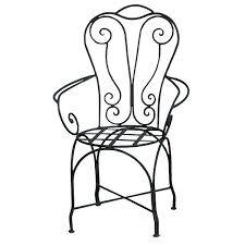 chaise en fer forgé chaise à bras de jardin design