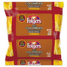 Folgers Coffee Filter Packs 100 Colombian 14 Oz Pack 40 Carton