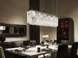 Siljoy Modern Crystal Chandelier Rectangular Pendant Lighting For Kitchen Island Dining Room 4 Lights H16quot