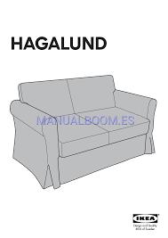 Hagalund Sofa Bed by Leer Online Instrucciones De Ensamblaje De Ikea Hagalund Sofa Bed
