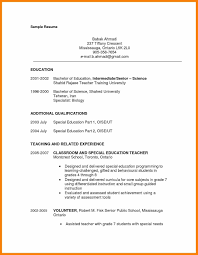 Resume Sample Special Education Teacher New Paraprofessional For Free