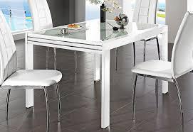 esstisch ausziehbar glas bis 180 240 cm alu weiß oder