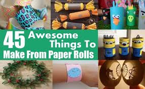 45 Awesome Things To Make From Paper Rolls