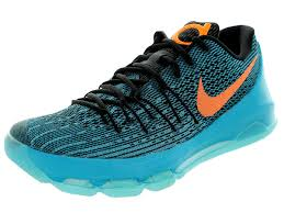 100 Kd Pool Nike KD 8 Mens Shoes Black LagoonBright CitrusBlack Tide