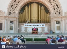 Balboa Park Halloween Night spreckels organ balboa park san diego california sd stock