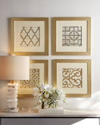 Cheap Framed Wall Art 11 Four Geometric Prints