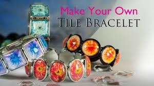 make your own tile bracelet glass tile bracelet jewelry