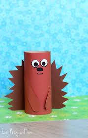 Paper Roll Hedgehog Craft