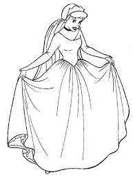 Click To See Printable Version Of Cinderella And Her Beautiful Gown Coloring Page