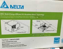 Humidity Sensing Bathroom Fan Heater by Delta Breez Ventilation System Bath Fan And Led Light Vfb80hled2