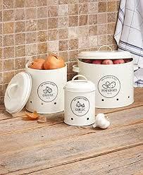 metall lebensmittel aufbewahrung crocks set 3 onions kartoffeln und knoblauch küche aufbewahrungsdosen
