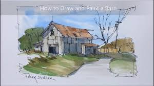 A Quick And Easy Barn Painting In Pen And Wash Watercolour. Using ... The Barn Westside Rd Urban Sketchers North Bay Old House Sketches Modern Drawn Farm Barn Pencil And In Color Drawn How To Draw A Drawing Wranglers Ribbons Every Place Has A Story To Tell Simple Farm 6 Steps With Pictures Wikihow Clip Art Of And Silo Stock Photography Image Wikipedia Gallery Old Drawings