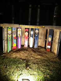 Pallet Stable And Hand Painted Nativity We Created For Christmas Yard Decor