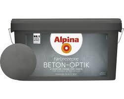 alpina farbrezepte effektfarbe beton optik komplett set grau ink alpina kelle