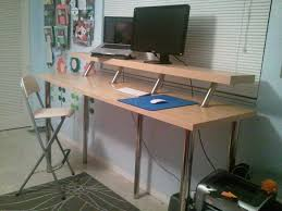 Standing Desks Ikea Wide Standing Desk Ikea Hackers Desks And Desk Areas