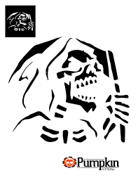 Printable Freddy Krueger Pumpkin Stencils by Grim Reaper Pumpkin Pattern