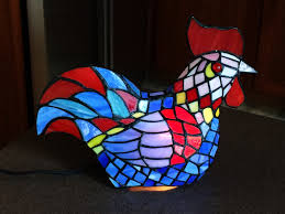 Tiffany Style Lamps Canada by Stained Glass Rooster Chicken Table Lamp Tiffany Style Accent Hen