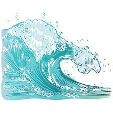 Vector Illustration of handdrawn handpicked waves vector art illustration
