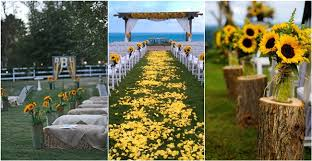 23 Bright Sunflower Wedding Decoration Ideas For Your Rustic