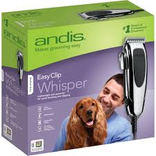Conair Pro Dog Shedding Blade by Andis Easyclip Whisper Super Deluxe Pet Clipper Kit 12 Pieces