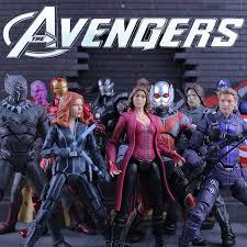 Captain America Civil War Avengers Iron Man Black Panther Scarlet Witch Vision Falcon PVC Action