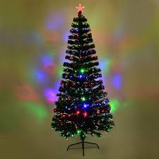 Costway 7Ft Fiber Optic Artificial Christmas Tree W 275 Multi Color LED Lights And