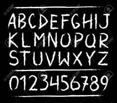 Hand Drawn Horror Scary Letters And Numbers Font Marker Grunge