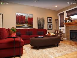 Brown Living Room Decorating Ideas by 13 Ideas That Will Make You Fall In Love With A Red Sofa Orange