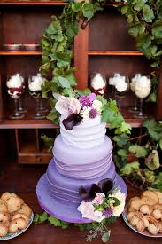 Purple Cake Wedding Rustic Style Me Pretty Ombre