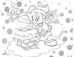 Mickey Mouse Christmas Coloring Pages For Kids Disney Crafts Free Printable Frozen