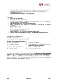 bureau d emploi giz tunisie offre d emploi le bureau giz cherche un