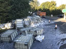 100 Milk Truck Accident Lorry Sheds Load Of Milk On Roundabout In North Yorkshire York Press