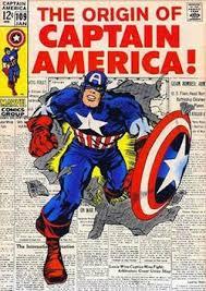 Captain America Bursting Through A Page Of Newspaper