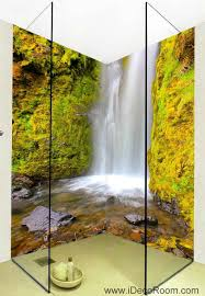 Wall Mural Decals Nature by 3d Wallpaper Waterfall Rocks Wall Murals Bathroom Decals Wall Art