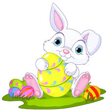 Easter Bunny with Eggs Decor PNG Clipart Picture