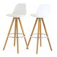 chaise haute b b pour bar chaise haute de bar blanche trépied en bois style scandinave zago