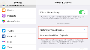 iCloud Library Do not delete photos from an iPhone to free