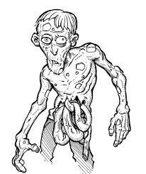 Disgusting Zombie Coloring Page Kids Play Color