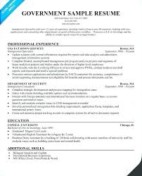 Best Of Pics Sample Resume For Government Employment